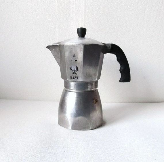 Italian Coffee Maker Percolator : Italian Coffee Maker Bialetti Original Coffee 6 cup Retro