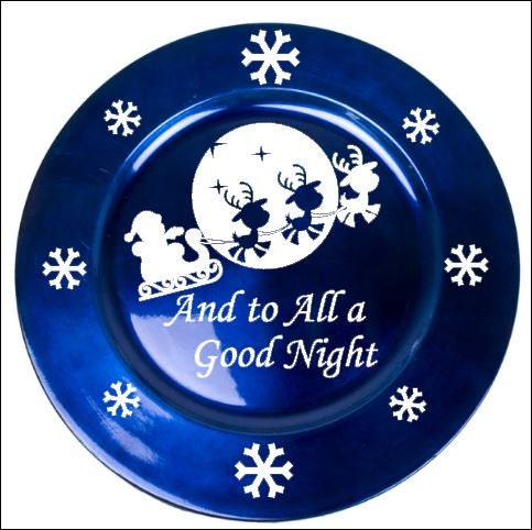 To all a good night vinyl decal for charger plate by sayzitall for Quality craft vinyl plank reviews
