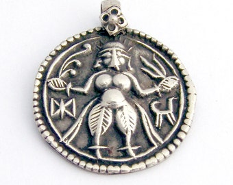 Indian Pendant Sterling Silver