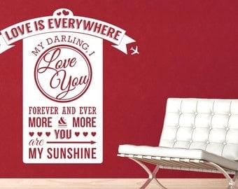 Love Is Everywhere Daring I Love You Wall Sticker