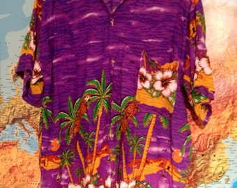 Purple Hawaiian shirt