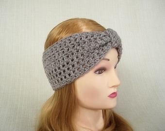 Womens crochet headband Crochet ear warmer Crochet turban headband Adult Winter headwrap Crochet head band earwarmer Fashion accessory