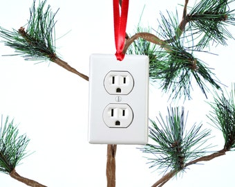 Electrical Outlet Funny Christmas Ornament