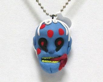OOAK Handmade Zombie Walking Dead Pendant Necklace 04 Halloween Creepy