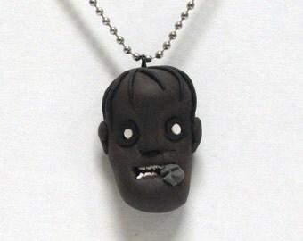 OOAK Handmade Zombie Walking Dead Pendant Necklace 06 Halloween Creepy