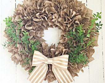 """Lovely Paper Wreath  20"""""""