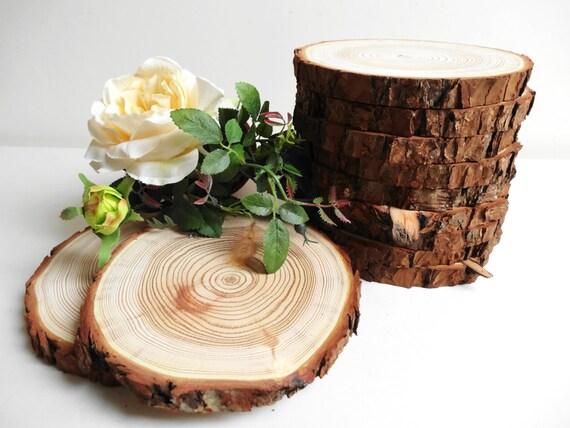 Items similar to quot wood slabs tree circles