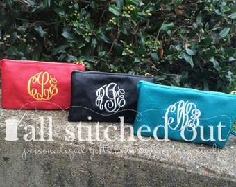 Monogram Crossbody Bag - Wristlet or clutch - Monogram purse - Personalized purse - Monogram clutch - Monogrammed wristlet - bridal purse