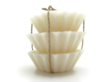 Scented Soy Tart Melts - 3 Gardenia, Dye Free, Wedding, Housewarming, Birthday, Shower Favor, Gift Under 10