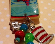 Popular items for cat in the hat fish on etsy for Cat in the hat jewelry