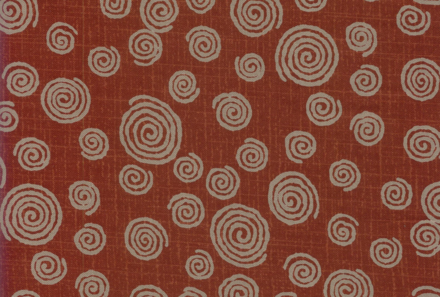 Red Swirl Fabric Japanese Quilting Cotton Fabric By Half Yard