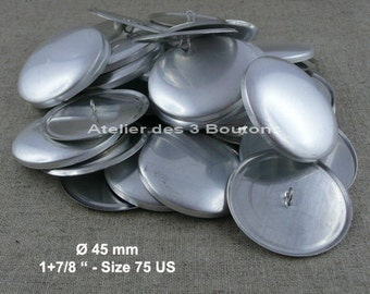 "25 Cover Buttons 1.7/8"" (Size 75)"