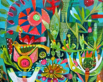 Buttons and Birds, a limited edition print of 50 units of this Este MacLeod painting.