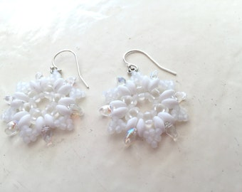 Snowflake Woven Dangle Earrings