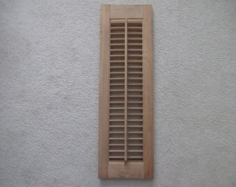 Popular items for interior shutters on etsy - Unfinished wood shutters interior ...