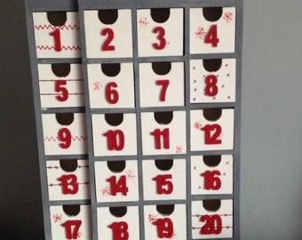 Hand painted house Advent calendar