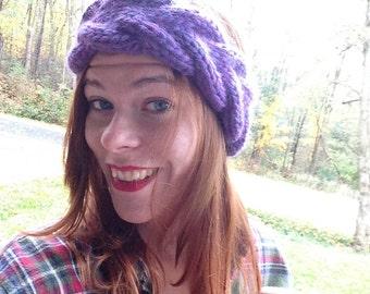 Braided Purple Headband