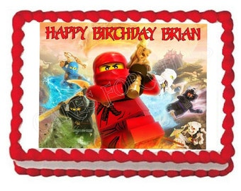 Ninjago Ninja edible cake image cake topper frosting sheet