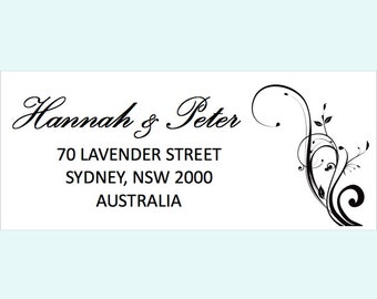 Return address personalised customised sticker labels - Floral - Pack of 50