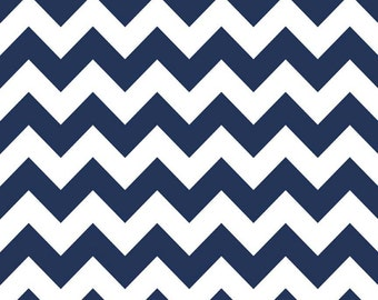 Navy Medium Chevron Riley Blake 3 Yards Navy Blue Chevron Fabric Designer Chevron C320-21 Navy