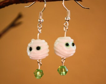 Mummy earrings little mummies just in time for Halloween wear them to that fright night party or trick or treat fun