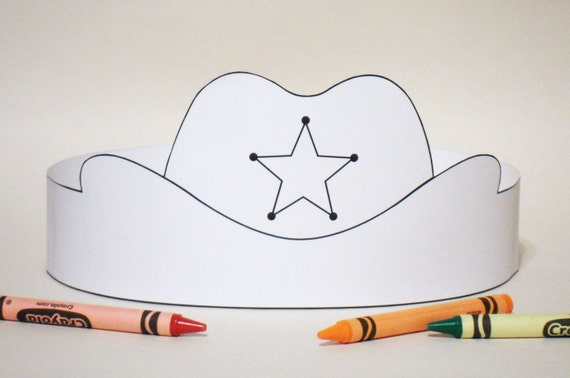 Colored Cowboy Hats Cowboy Hat Paper Crown Color