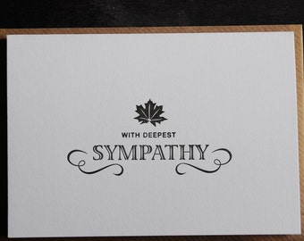 sympathy card, letterpress printed, made in ireland