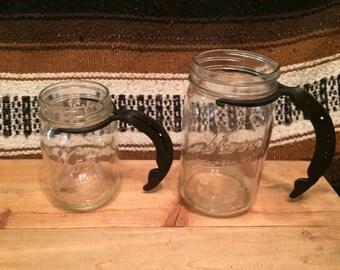 Horseshoe Mason Jar Handles