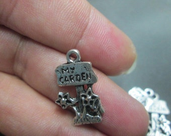 My Garden Charms (6) 20mm x 12mm