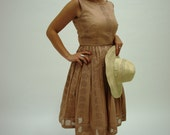 50's style tea rose cotton dress