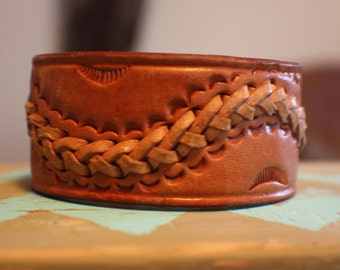 Rockin' Leather Cuff with Braided Detail