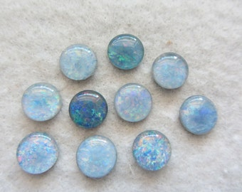 Opal Triplets from Australia 10mm round lot of 6 stones
