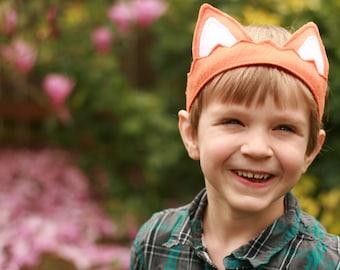Kid's Animal Costume - Orange Fox Ears - Fox Crown