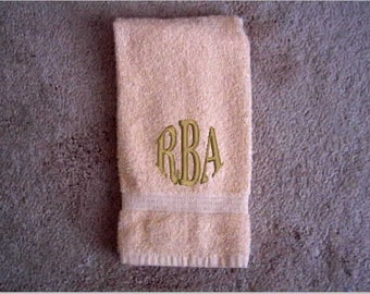 Monogramed Towel, towels, hand towel, embroidered towel, bathroom decor, custom towels, personalized towels, decorative towel