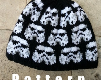 Knitting Pattern - Star Wars - Stormtrooper hat pattern for men