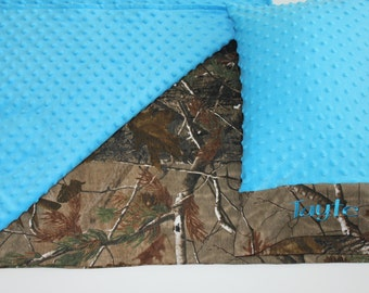 Camo Nap Mat Cover - Minky - Choose Your Colors - Kindermat - Back To School - Pillowcase - Blanket