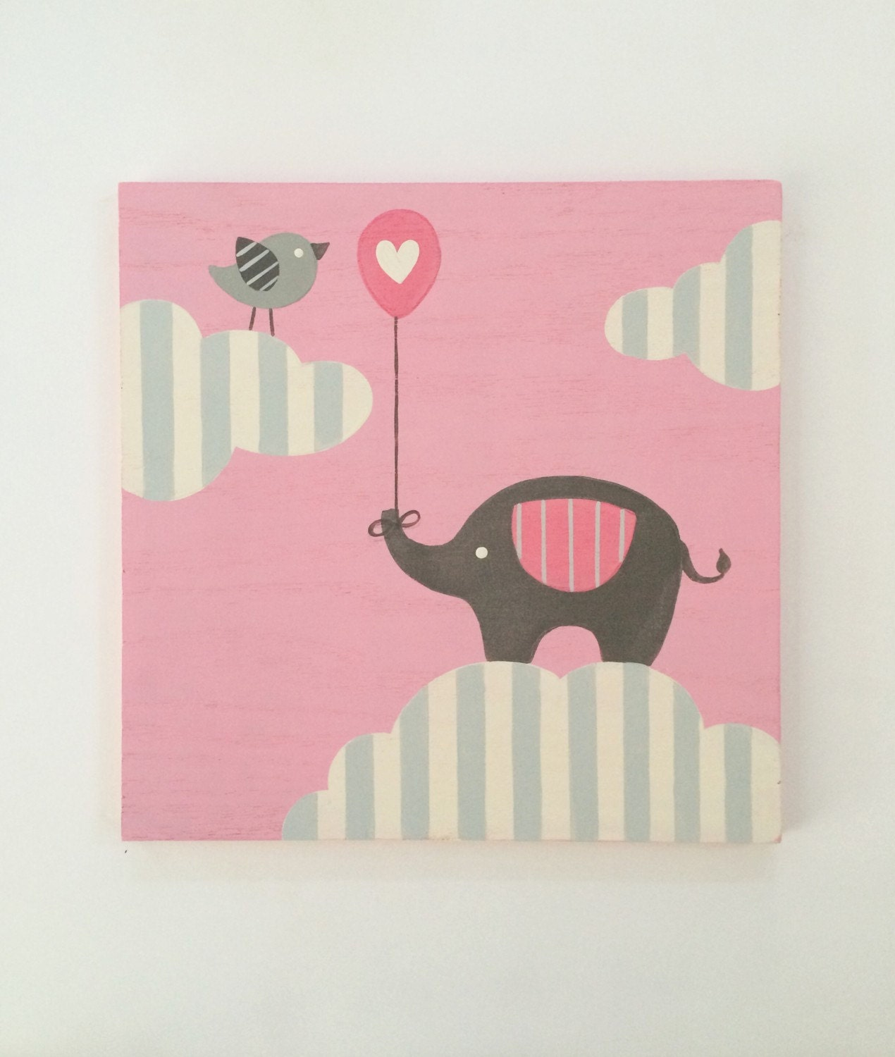 Elephant Nursery Art Nursery Decor Pink And By Sweetbananasart