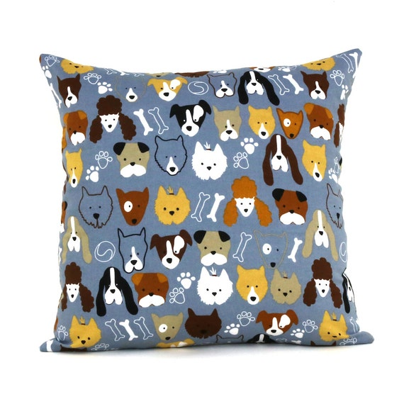 Doggy Throw Pillows : Throw Pillow Dog Gang 15 x 15 pillow case