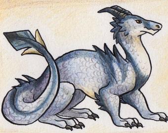 Original ACEO Dragon