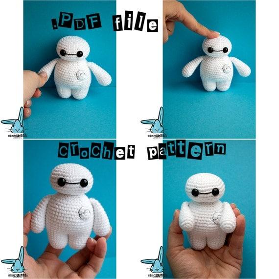 Big Amigurumi Doll Pattern : Crochet Baymax .PDF crochet pattern Big Hero 6 by BlueRabbitLV