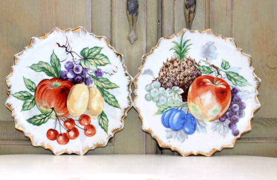 Vintage Fruit Plates Home Decor Made In Japan By Iguanafindit