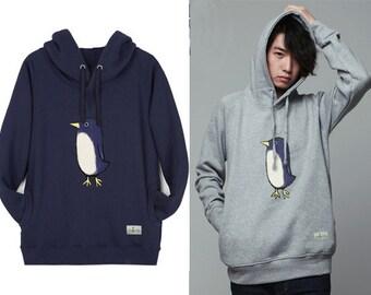 Hoodie Sweatshirts for Women Hooded Long Sleeve Shirt PENGUIN