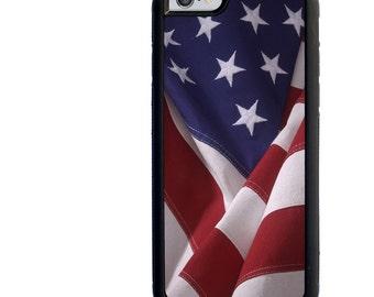 iPhone 5 5s 6 6s 6+ 6s+ SE 7 7+ iPod 5 6 Phone Case, American Flag, USA, United States, Plus