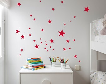 Red Little Stars Wall Decal Vinyl Sticker Little Red Nursery Stars Vinyl  WallStickersu2013Kids Part 90