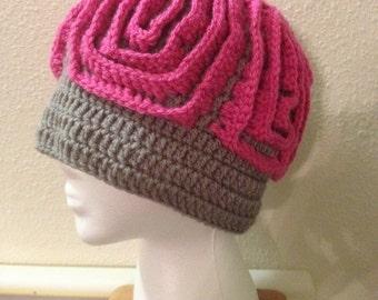 Brain/Zombie crochet beanie-Teen size-Ready To Ship