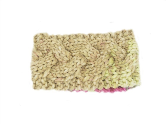 Cable Knit Jogger Headband PDF Knitting Pattern by TheOliveEweShop