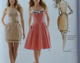 Womens Simplicity S0573 Leanne Marshall dress pattern