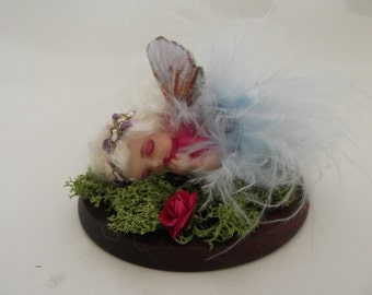 OOAK Sleeping baby fairy made to order