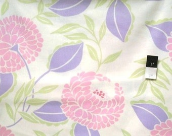 Dena Designs fabric McKenzies Blooms DF79 Lilac pink white purple floral sewing/quilting 100% cotton fabric free spirit by the yard