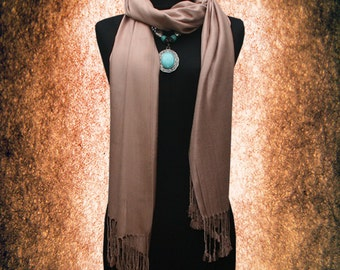 New Women Vintage Solid Top quality 100% Pashmina Scarf Shawl Muffler Free size